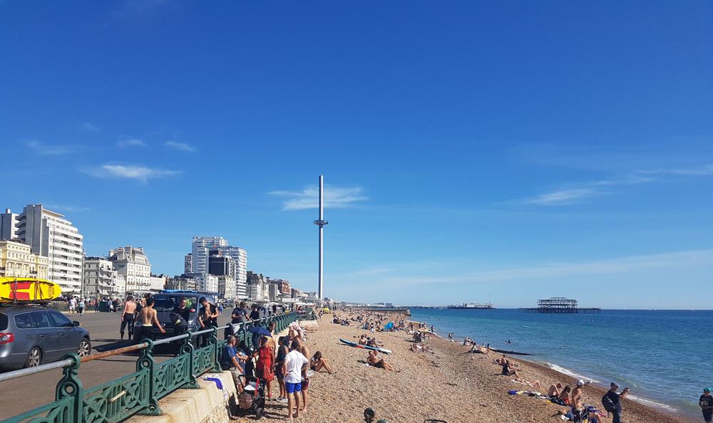 brighton beach seafront